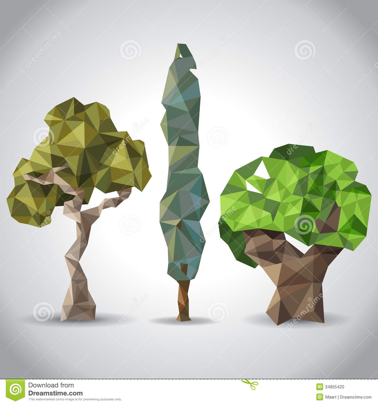 Stylized Trees Stock Photo - Image: 34855420