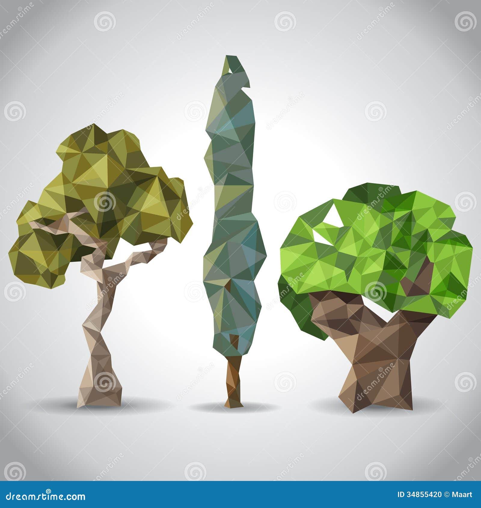 Stylized Trees Stock Photo - Image: 34855420