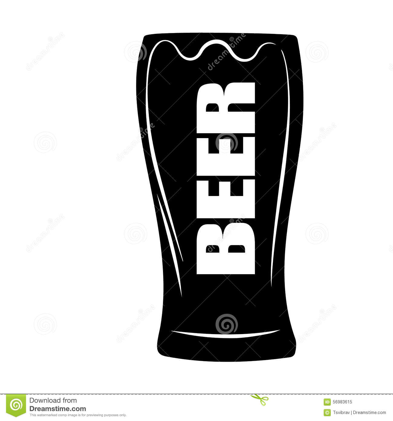 Stylized Vector Illustration Of Beer Glass Stock ...