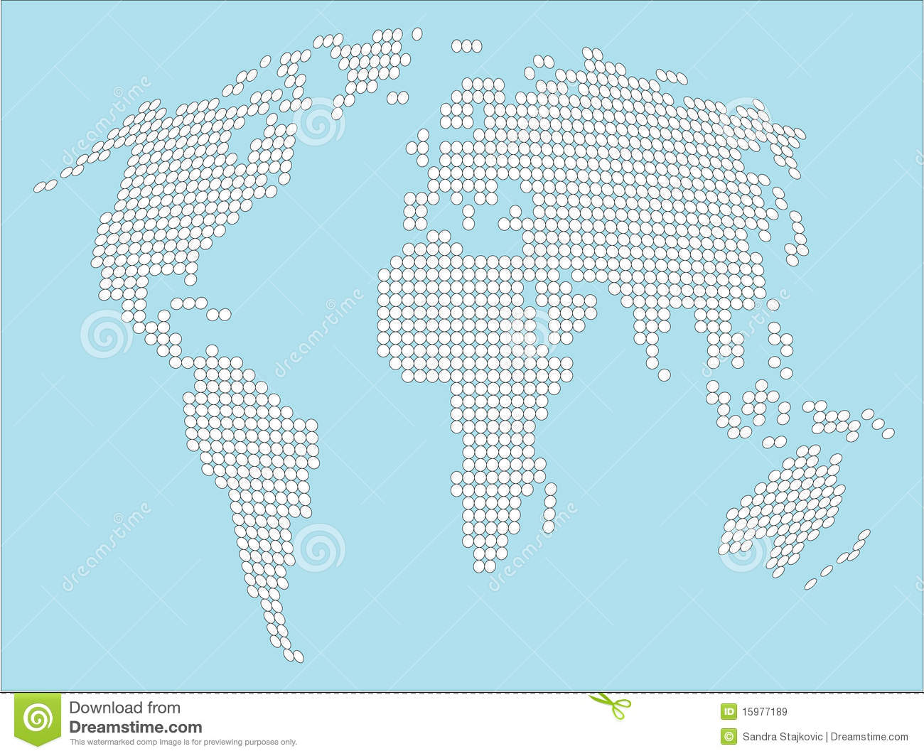 Stylized white dotted world map stock image image 15977189 stylized white dotted world map royalty free stock photo sciox Image collections