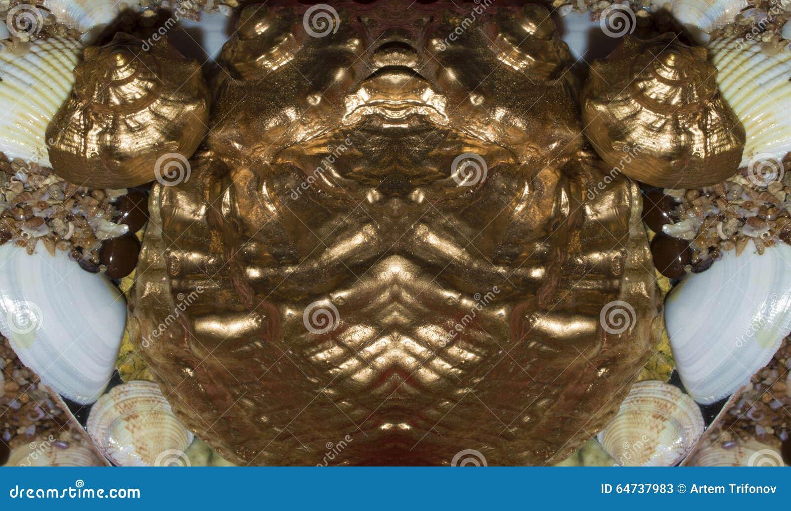 Stylizowanego metalu złota ryba pamiątkarskie fugi