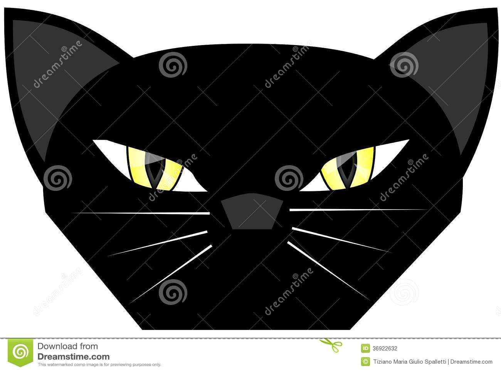 Stylizowany czarny kot