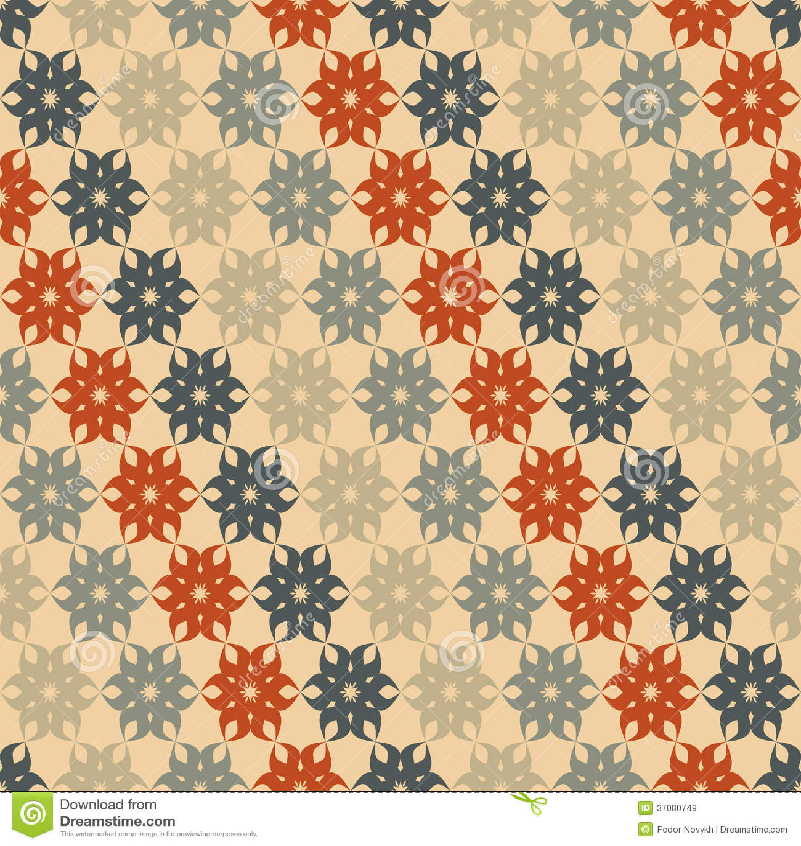 Download Stylizowany kwiecisty wzór ilustracja wektor. Ilustracja złożonej z zespół - 37080749