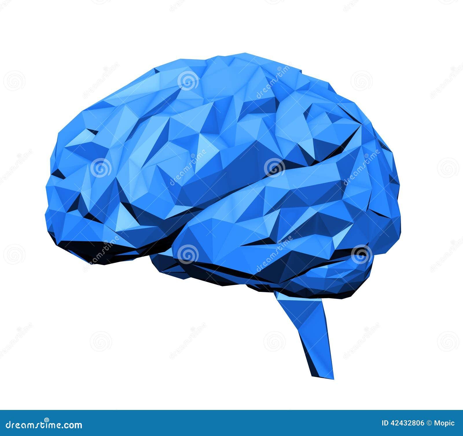 Stylizowany ludzki mózg