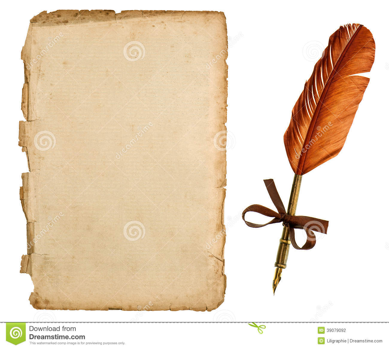 Quill And Paper Png