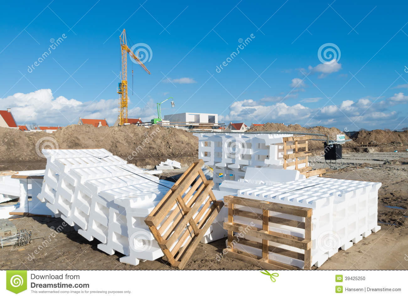 Styrofoam Building Material : Styrofoam blocks stock photo image