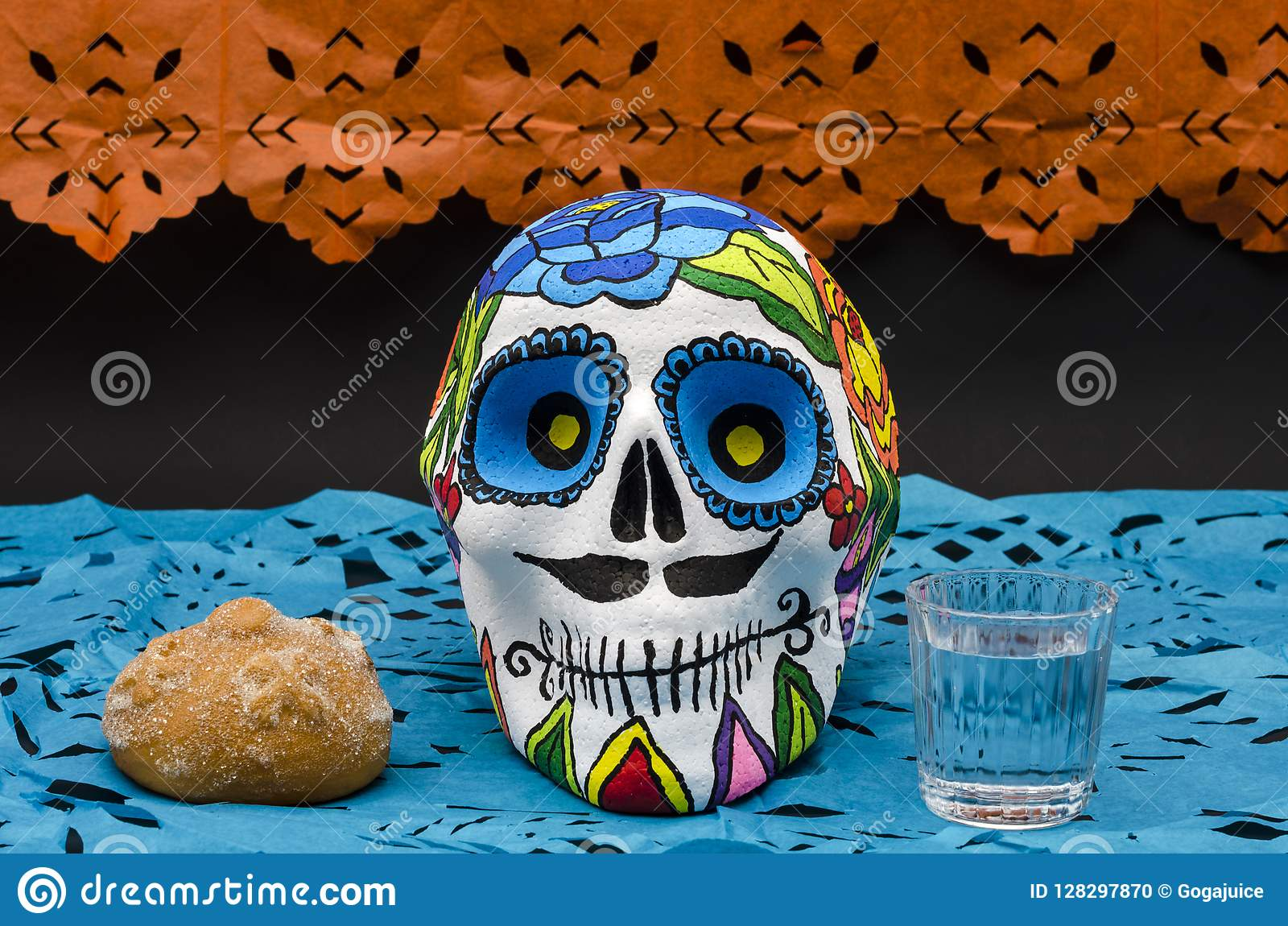 Mexican Day Of The Dead Stock Photo Image Of Colorful 128297870