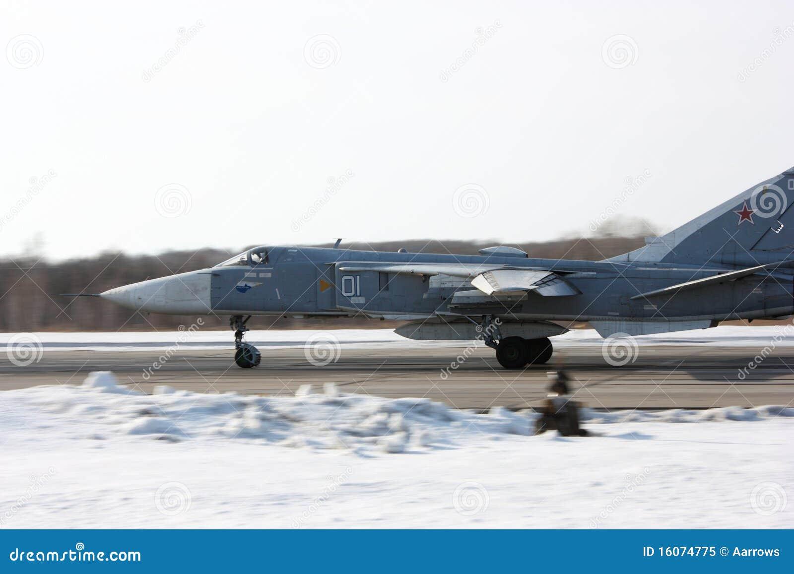 Su-24 Fencer on take off