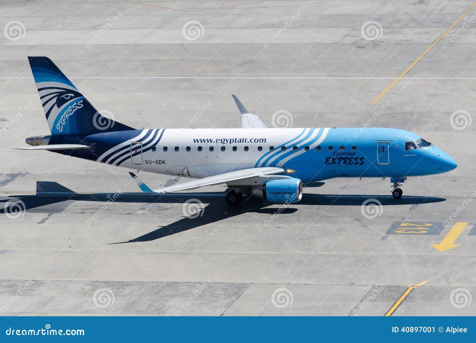 SU-GDK EgyptAir Express Embraer 170-100LR Editorial Photo