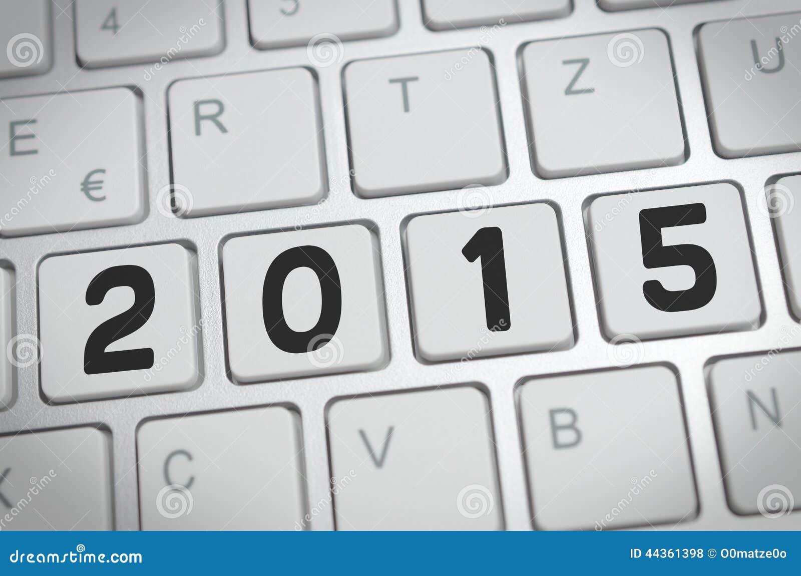 2015 su una tastiera