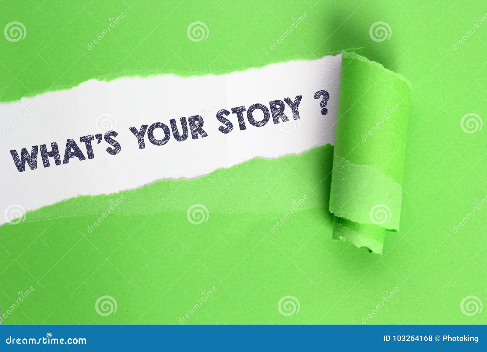 Sua história de WhatÂ