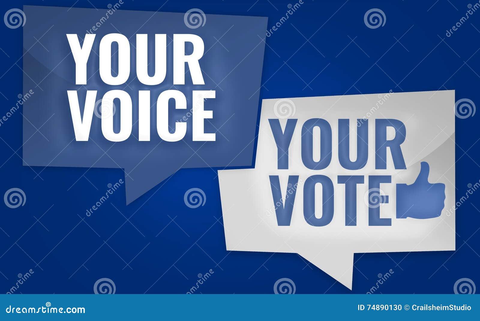 Sua voz seu voto 3D rende o projeto dos EUA