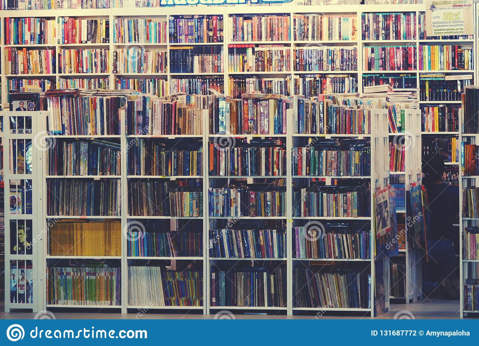 Suan luangThailand 13 november 2018 begagnad bokhandel