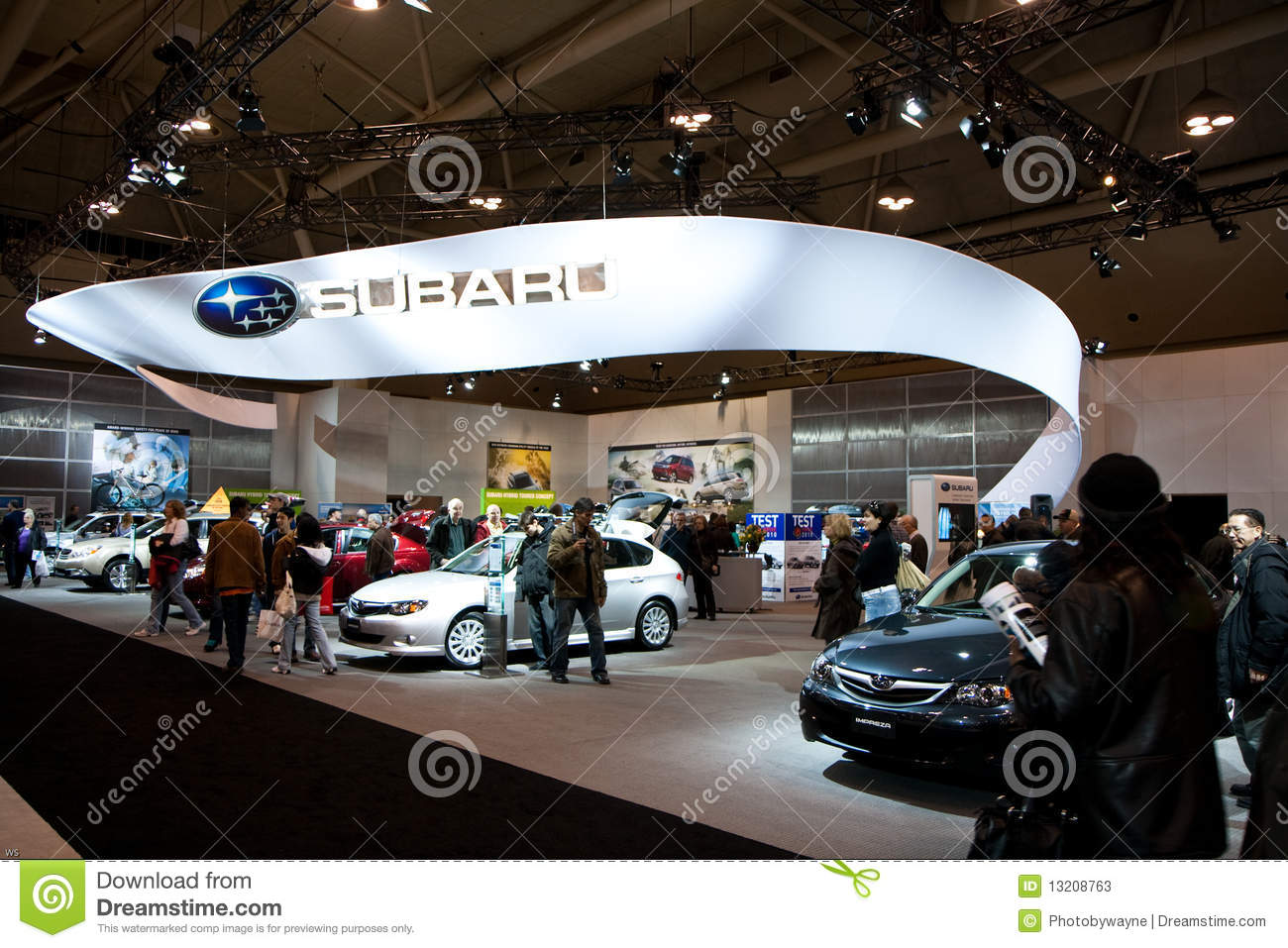 Subaru Booth At The Toronto Auto Show Editorial Stock Photo Image - Car show booth