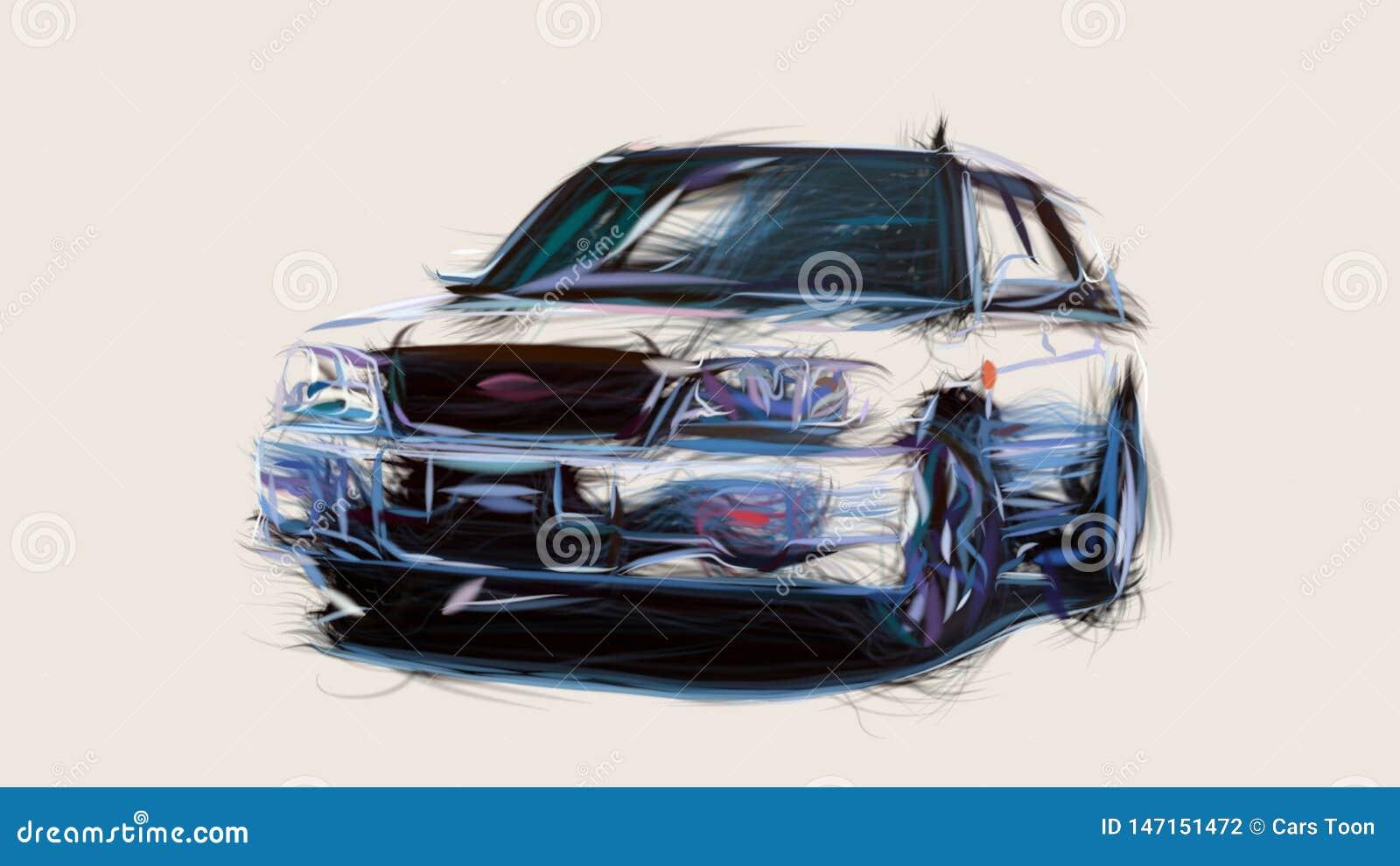 2000 Subaru Forester Sti Ii Id 2813 Stock Illustration