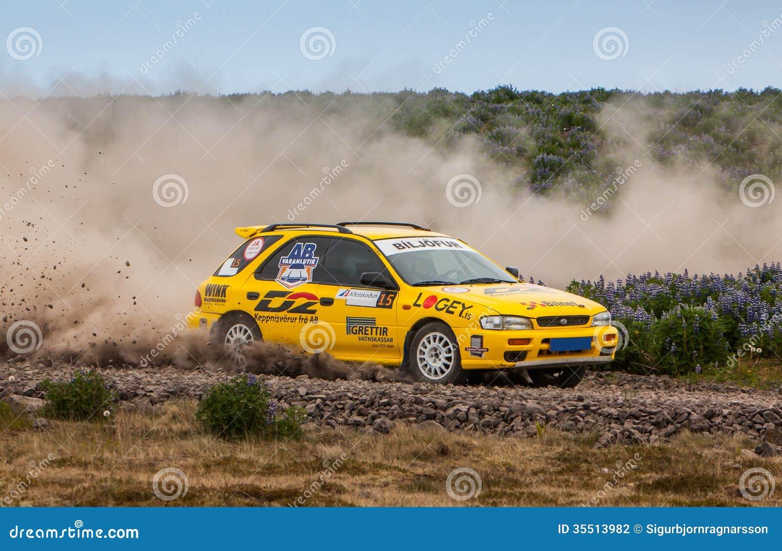 Alsko subaru impreza rallycar editorial photography. image of
