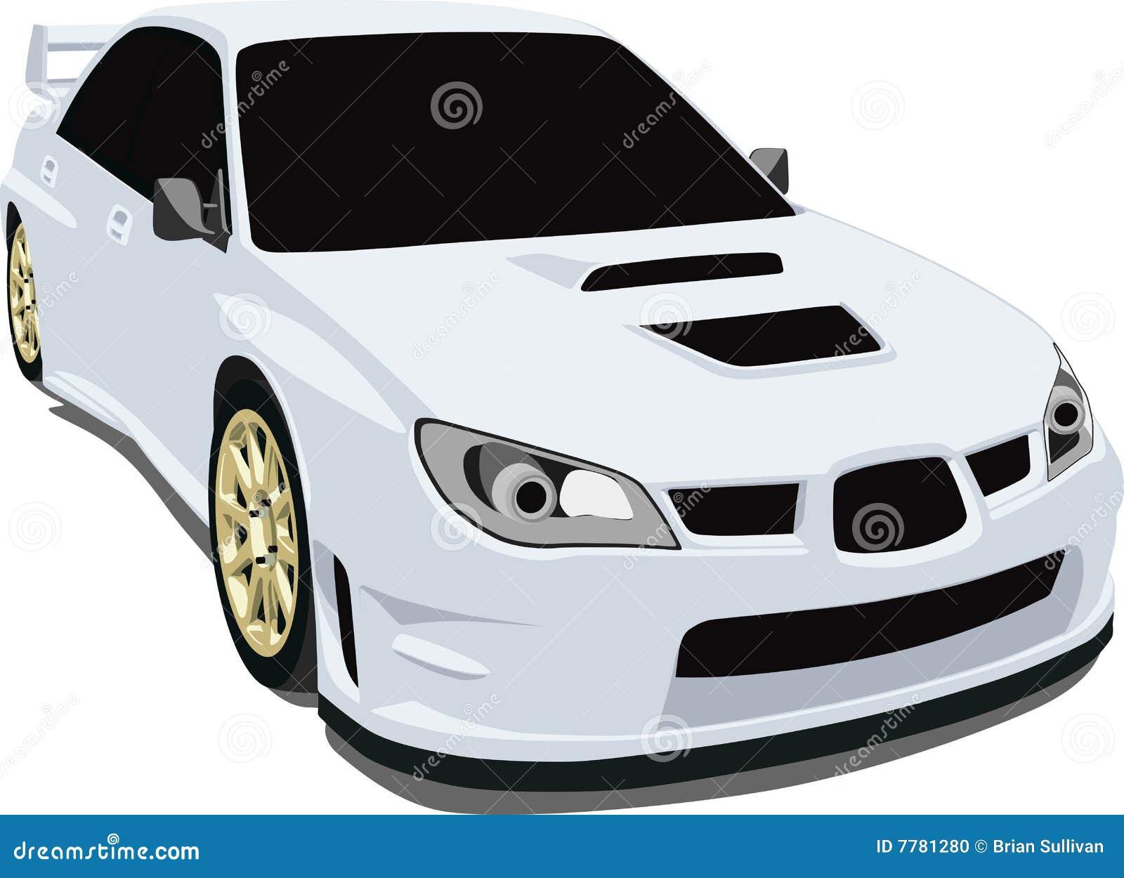 White Tire Paint >> Subaru Sti stock vector. Image of rally, race, hood, subaru - 7781280
