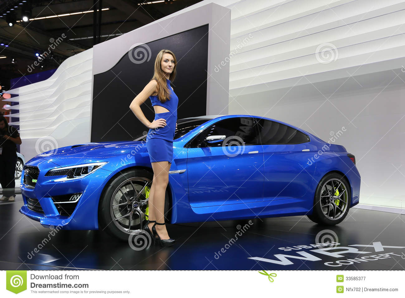 Subaru Wrx Concept Shown At The Editorial Photography