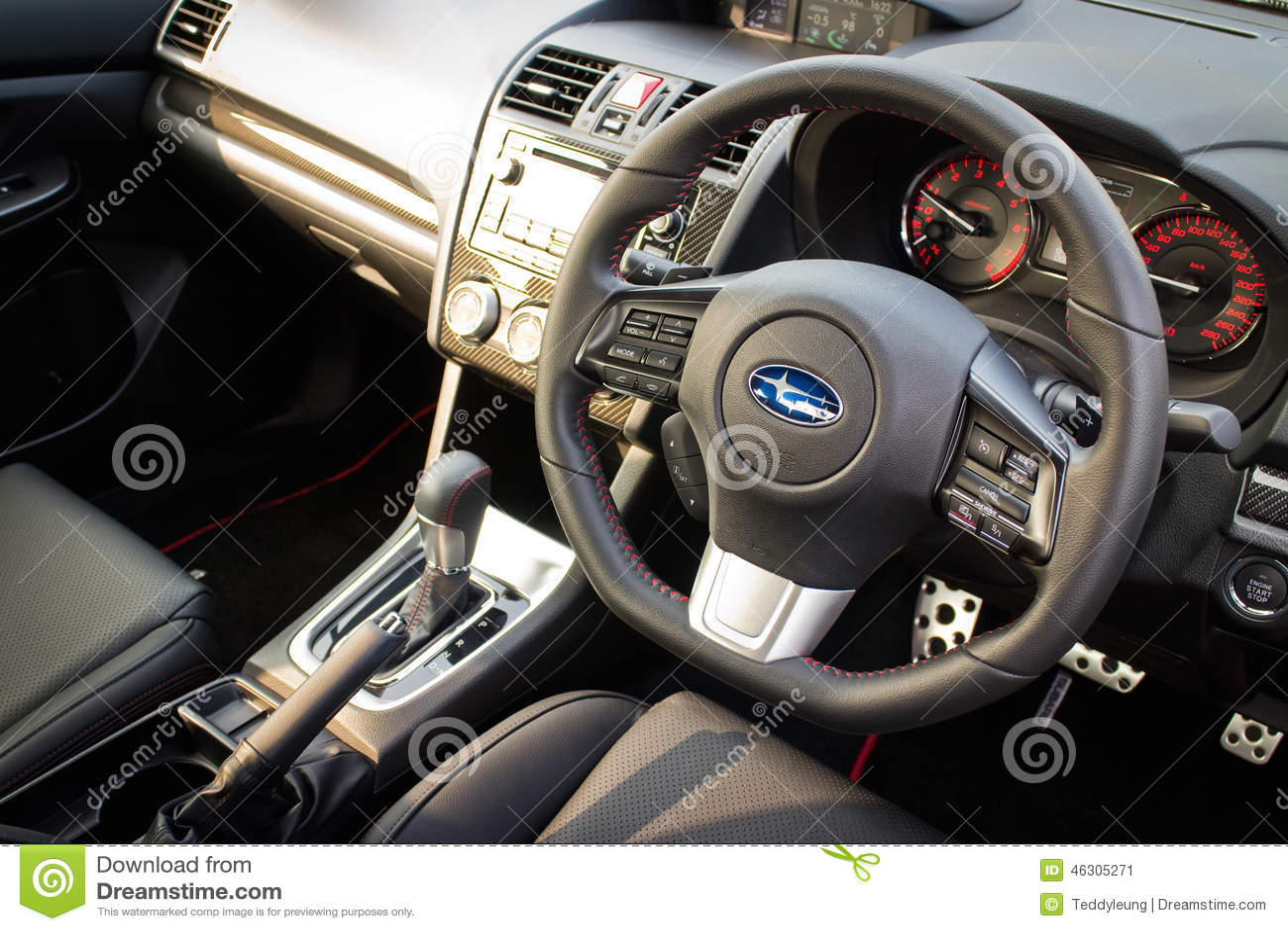 Subaru Wrx 2014 Interior Editorial Photo Image Of