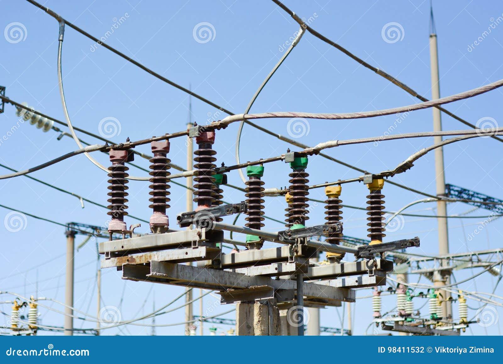 Subestación de alto voltaje eléctrica