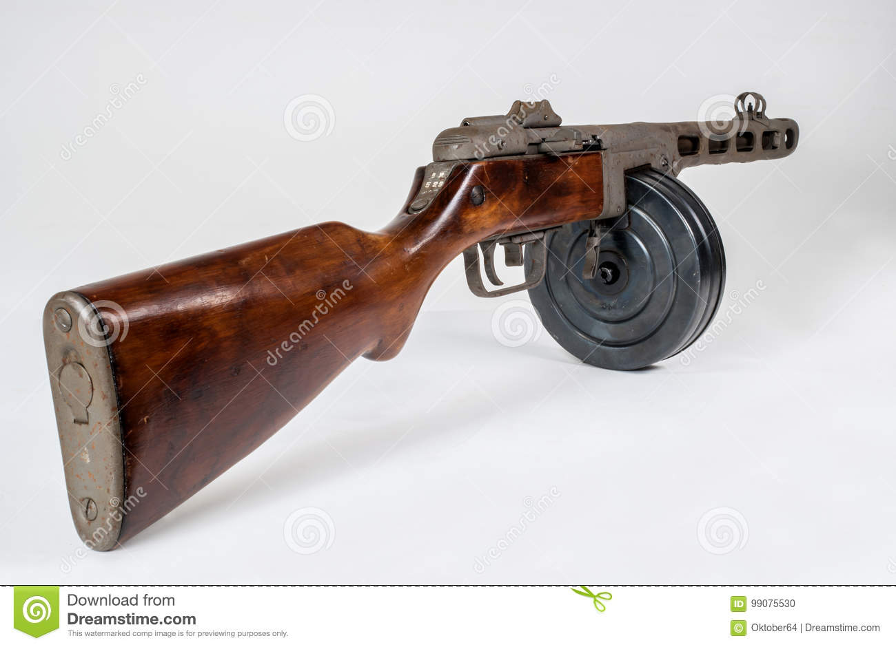 submachine gun ppsh 41 on a light background stock photo image of