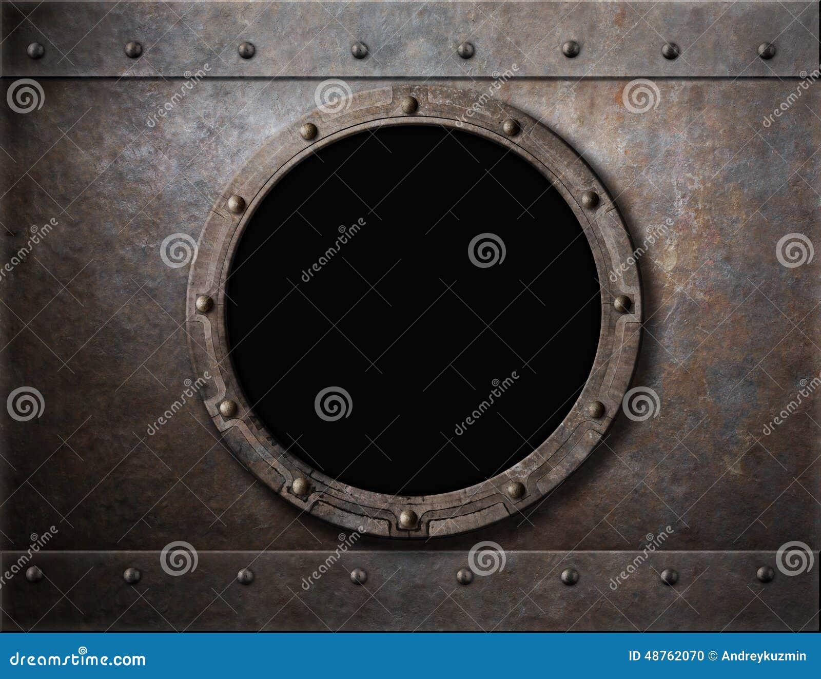 Submarine armoured porthole or window metal