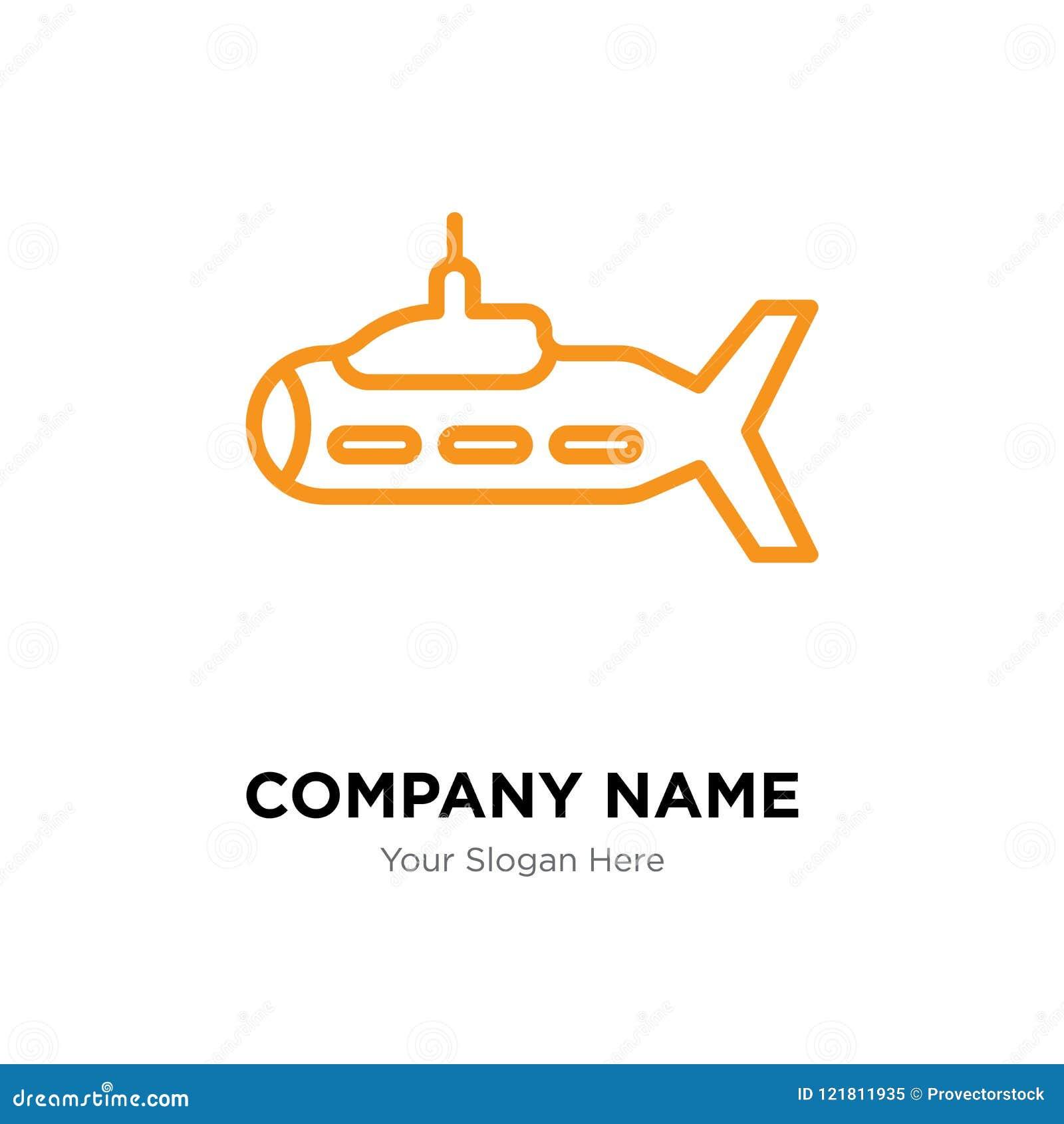 submarine company logo design stock vector illustration of