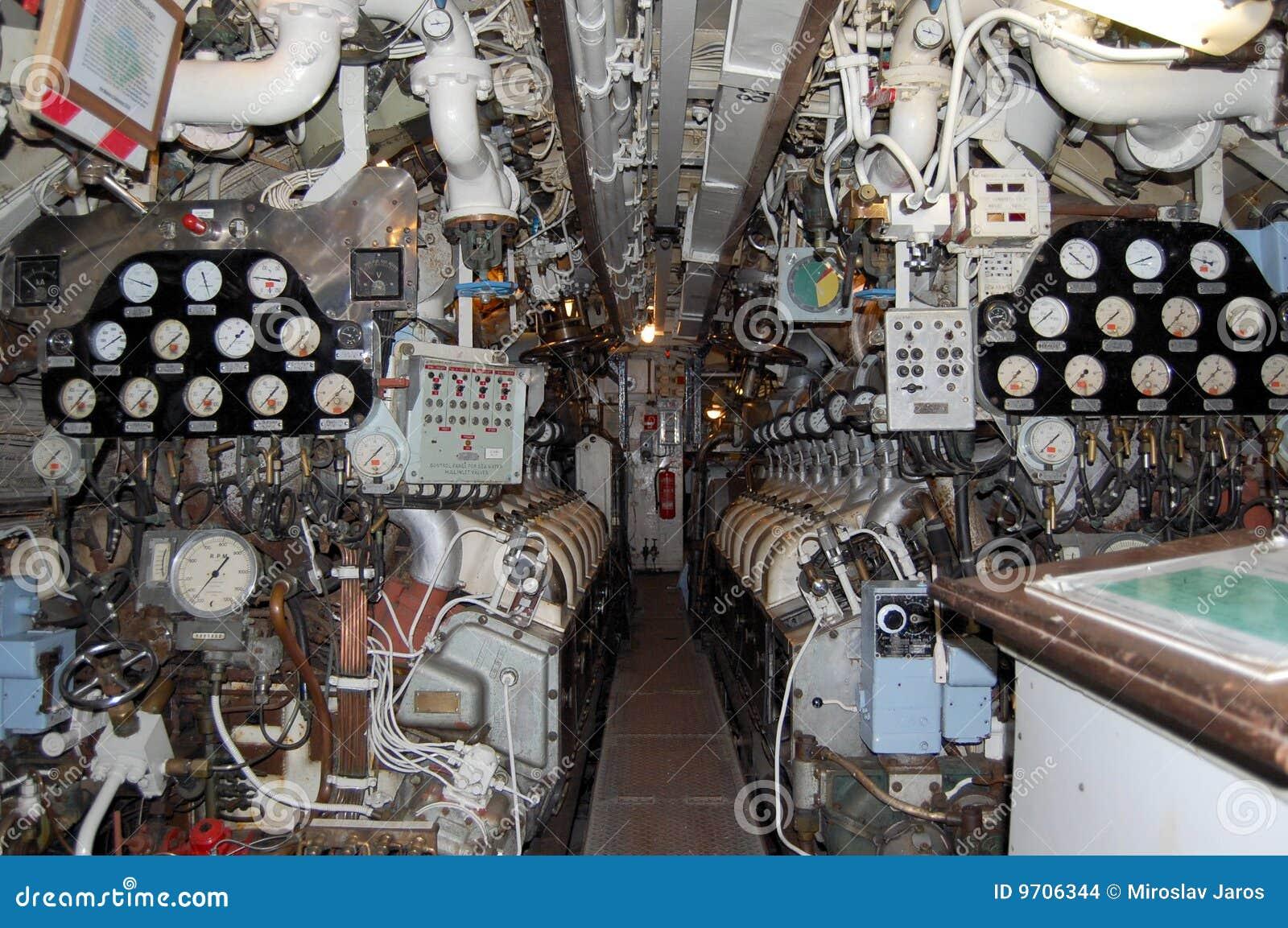 Submarine engine room