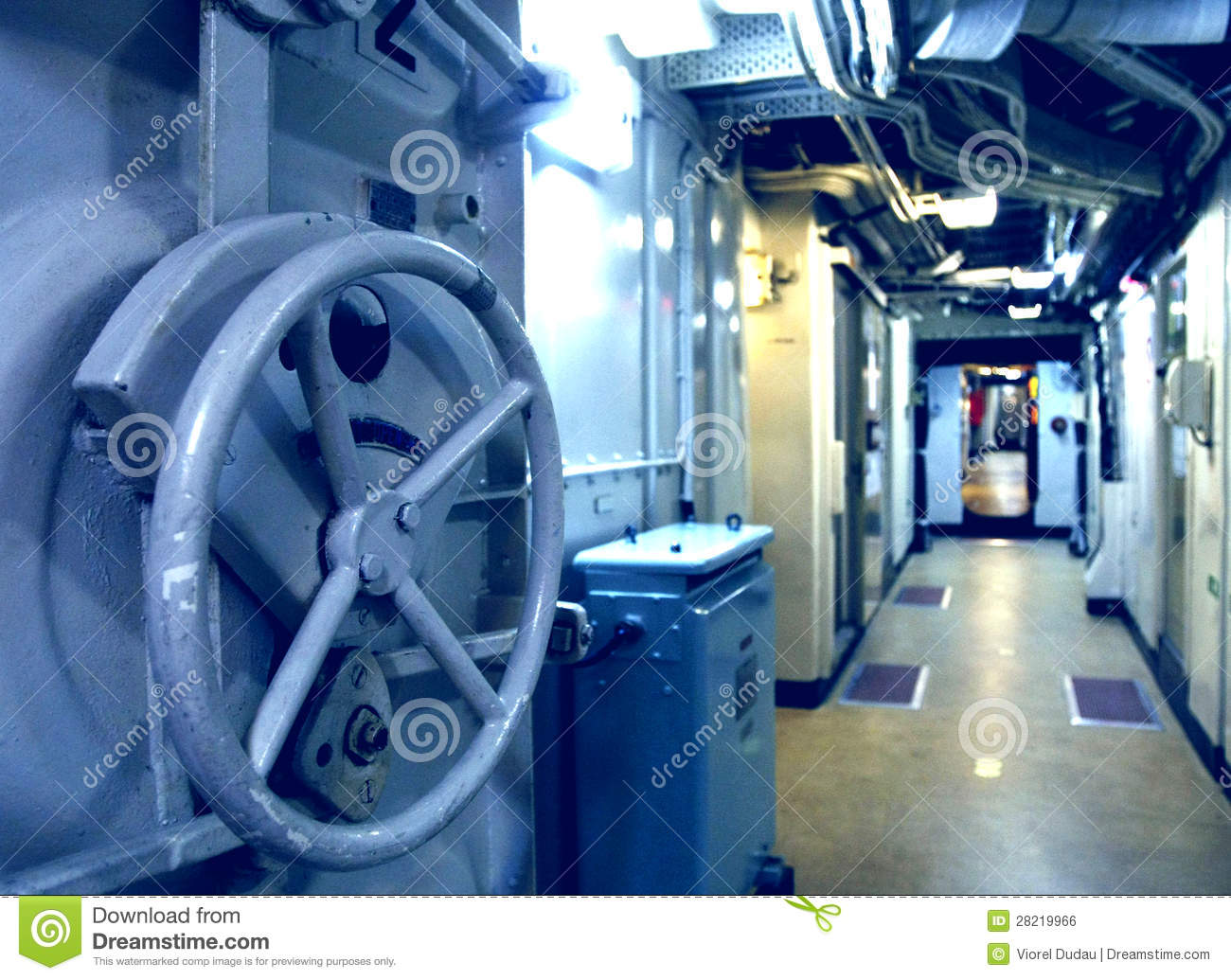 Submarine Interior Royalty Free Stock Image - Image: 28219966