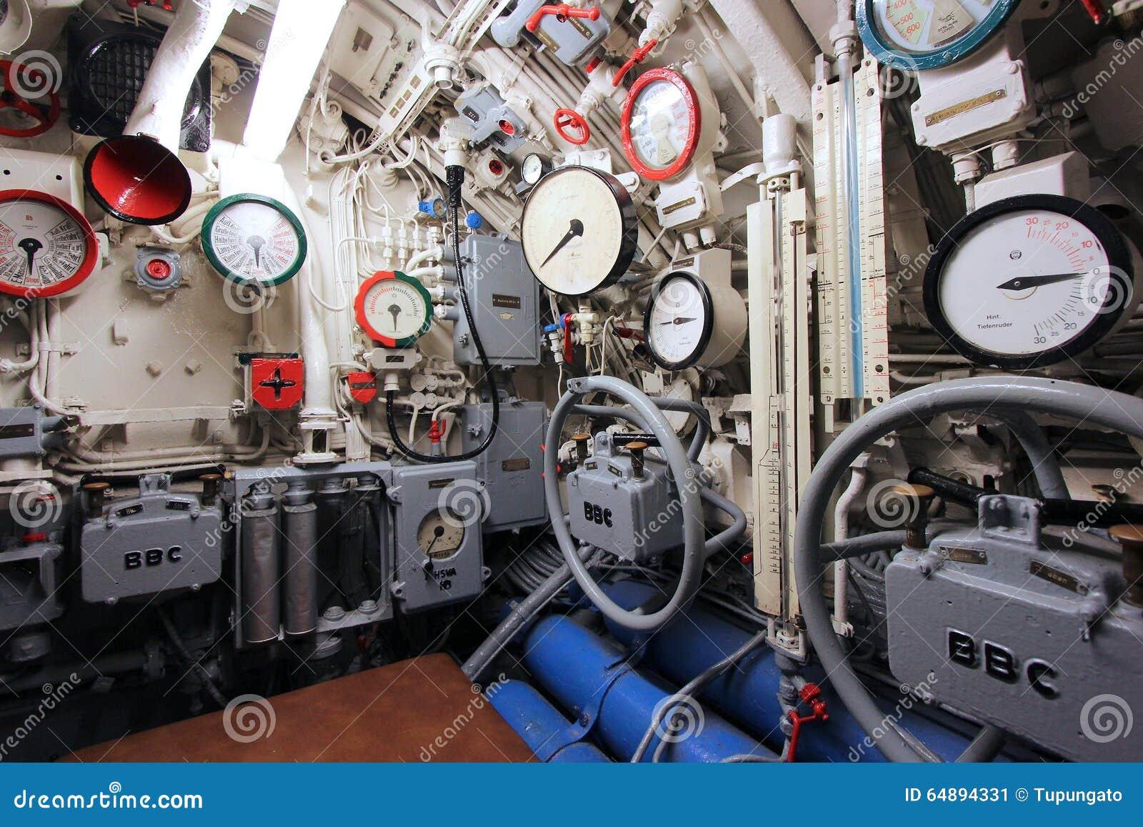 Submarine interior editorial photo image of european for Interior submarino