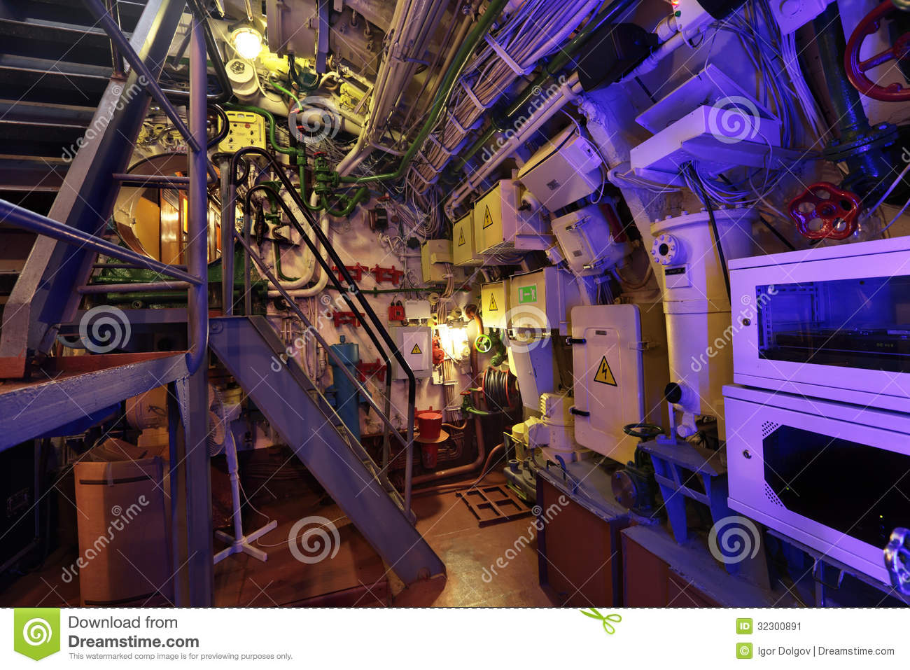 The submarine interior stock image. Image of gate, complexity - 32300891