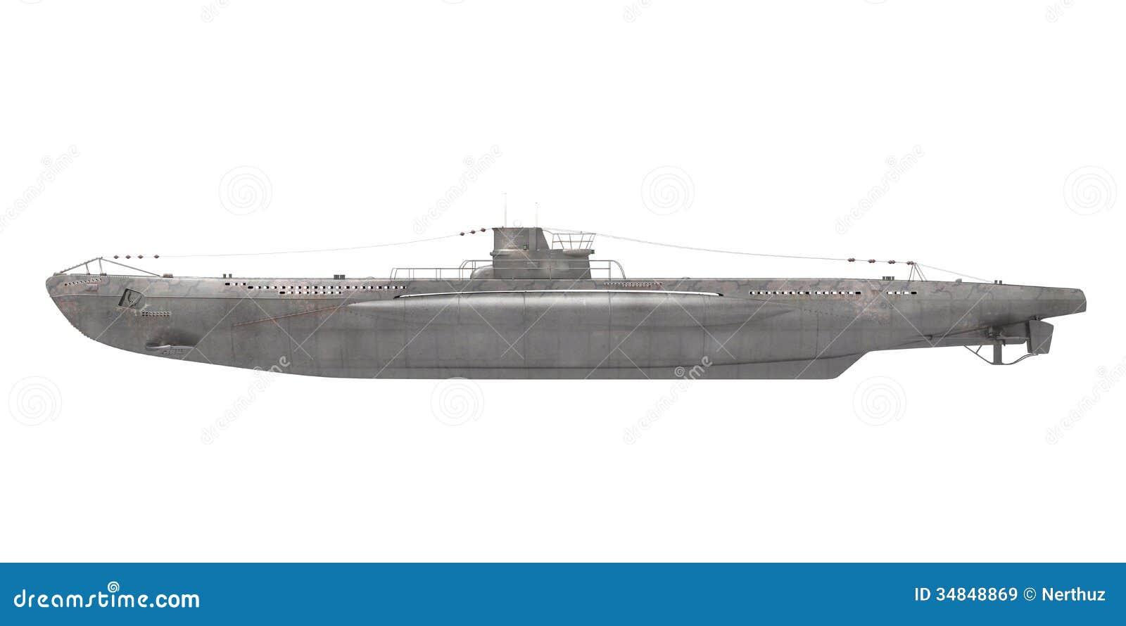 Submarine Isolated stock illustration. Illustration of marine - 34848787