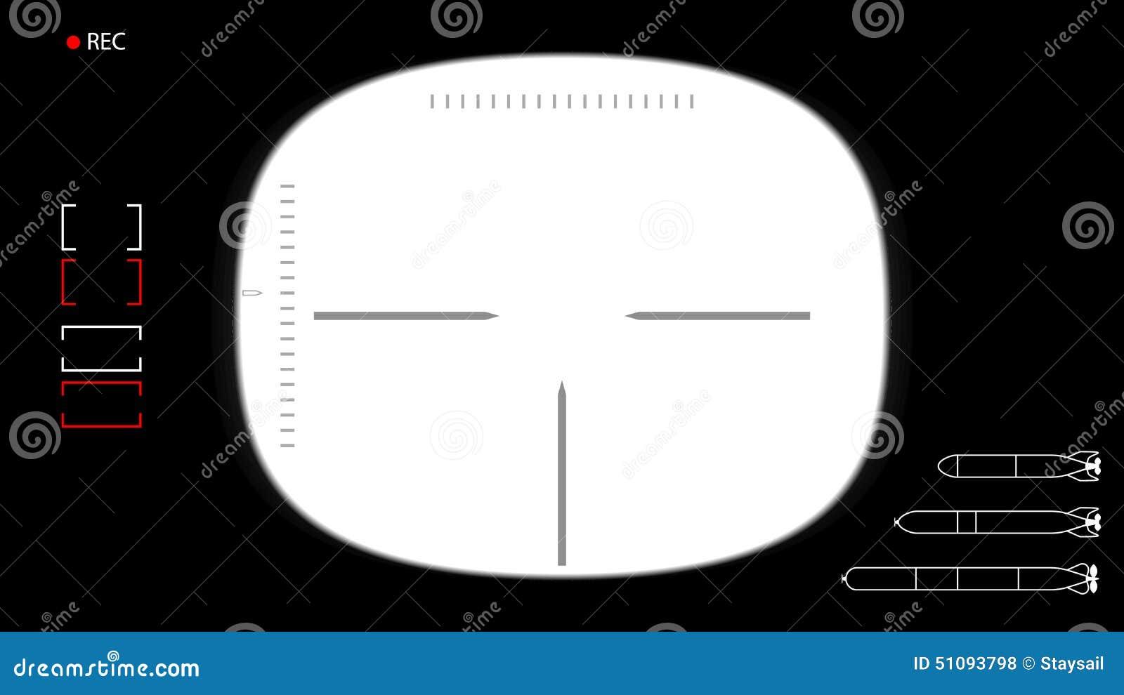 submarine periscope template stock vector illustration of