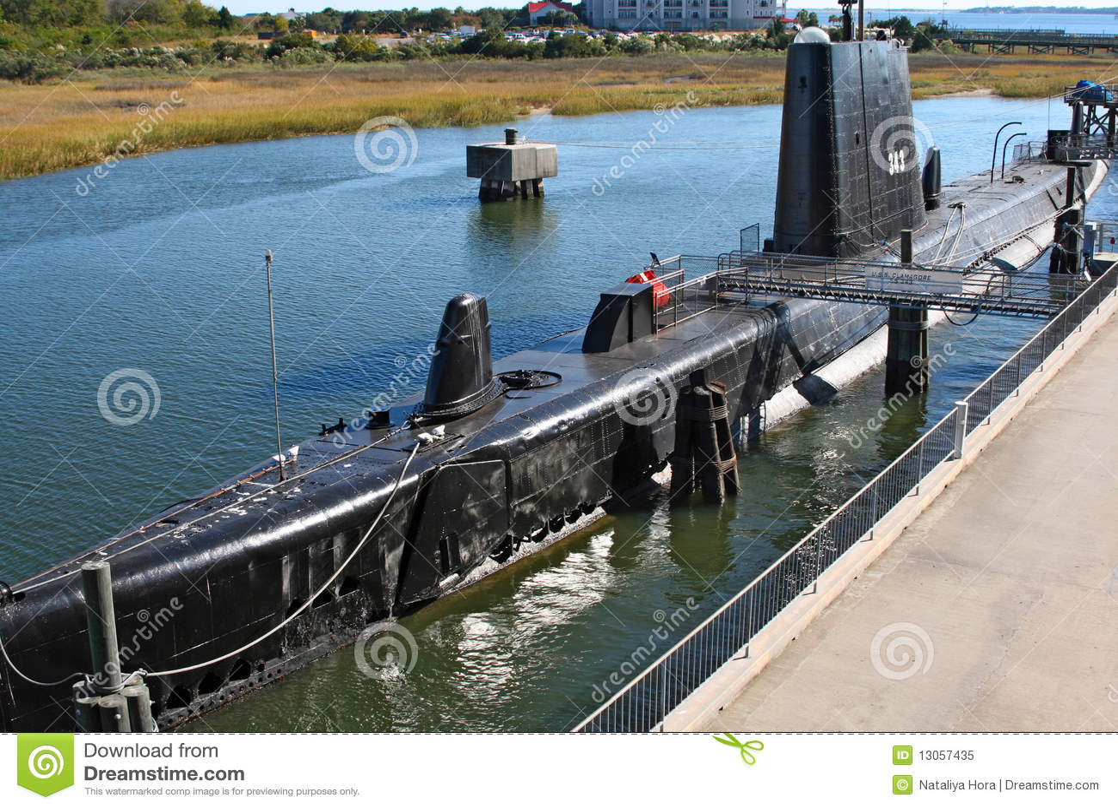Submarine USS Clamagore , Charleston, USA