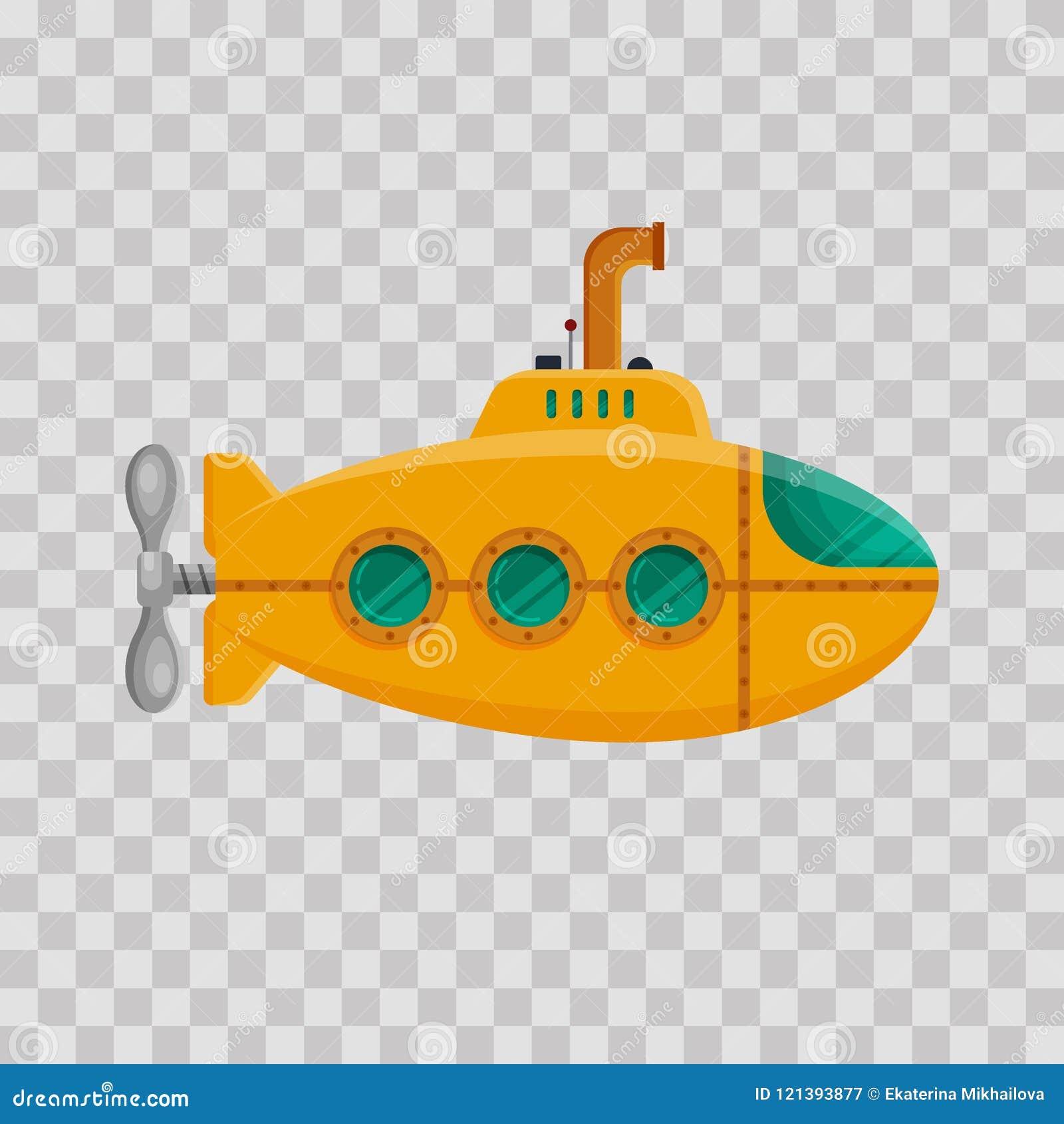 El Submarino Transparente En Amarillo Con Periscopio Fondo SjpqLzUMVG