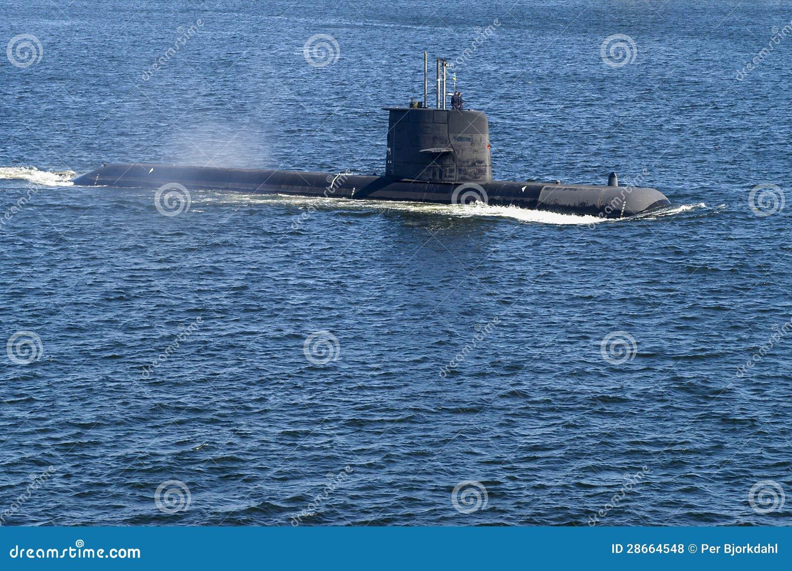 Submarino de ataque sueco HMS Uppland