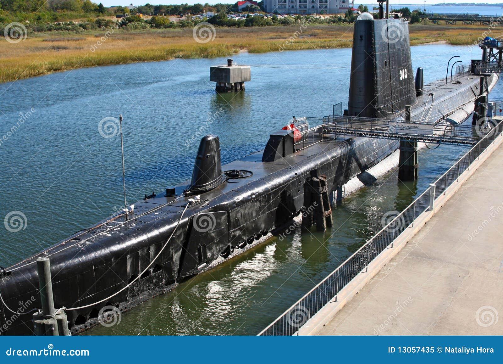 Submarino USS Clamagore, Charleston, los E.E.U.U.