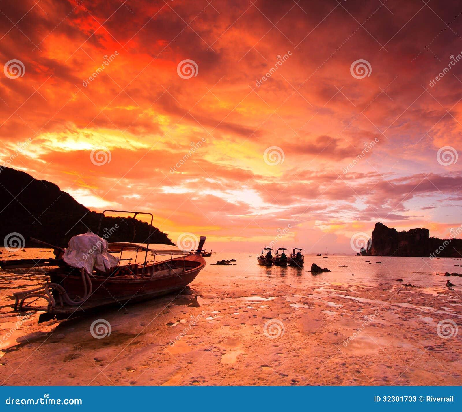 sunset sailing boats rocks - photo #6