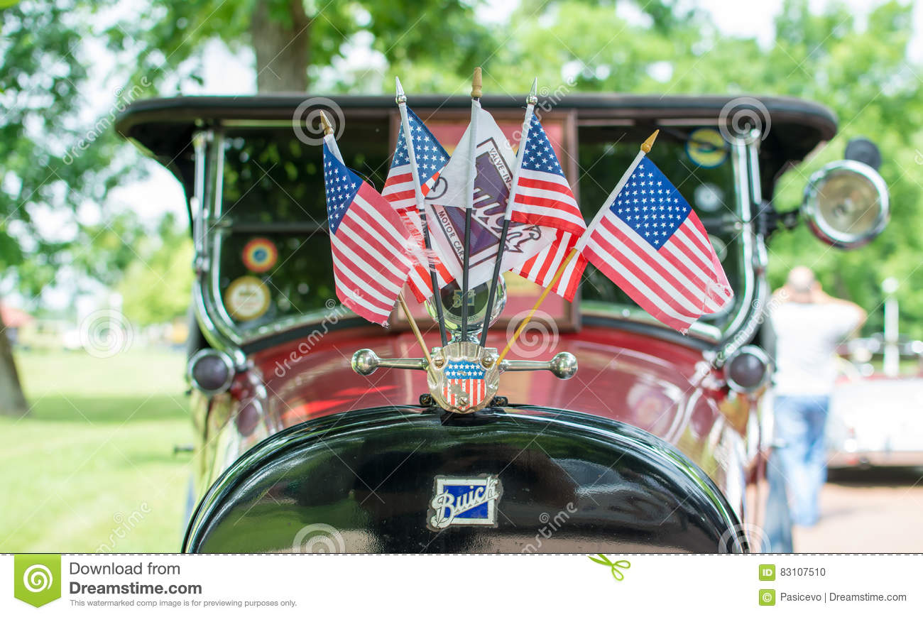 SuboticaSerbiaJun Buick With American Flags On Annual Old - Car show flags