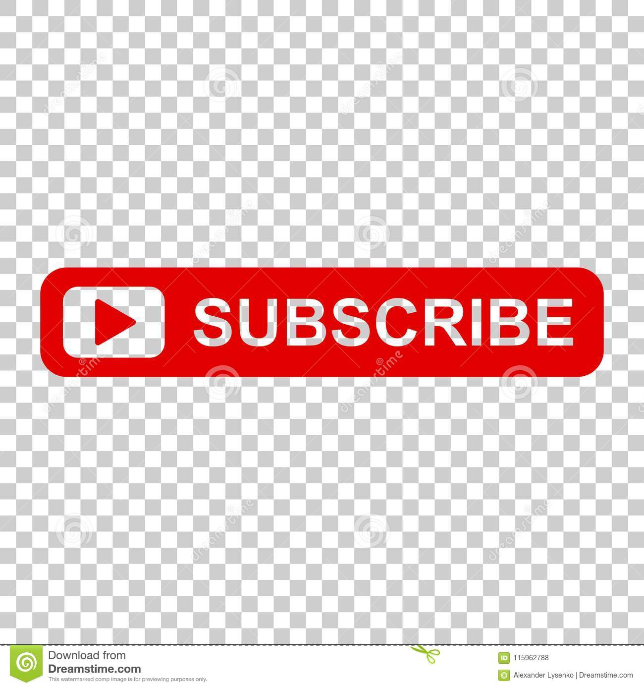 Subscribe Button Icon Vector Illustration On Isolated Transparent