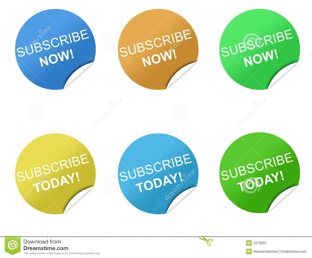 Subscription Stickers