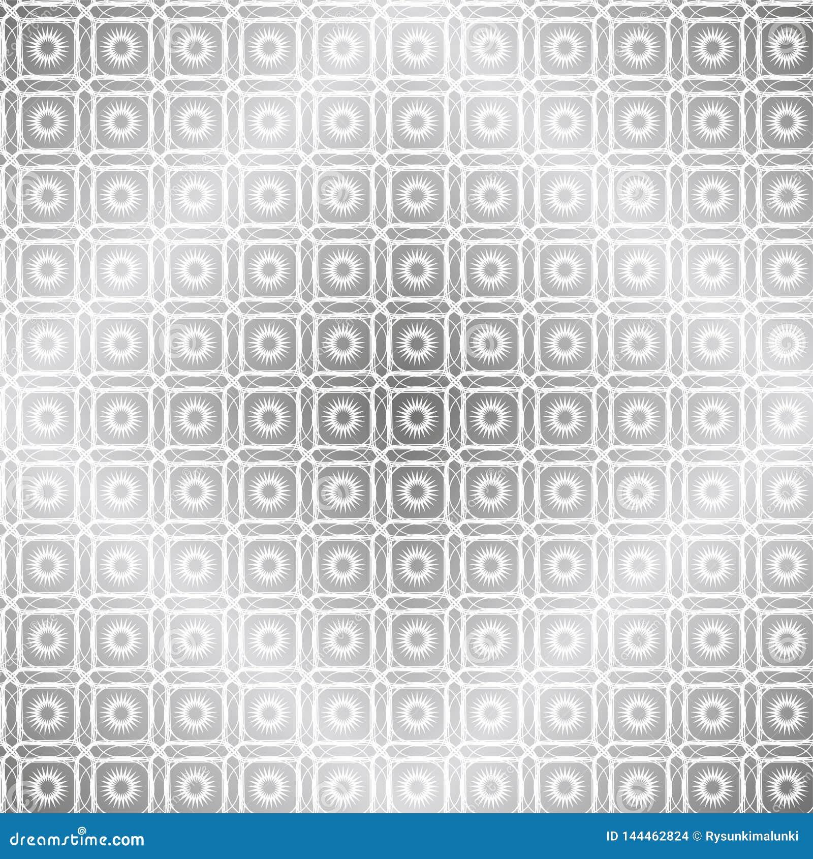 Subtelny geometryczny tło z kwadratami i słońcami