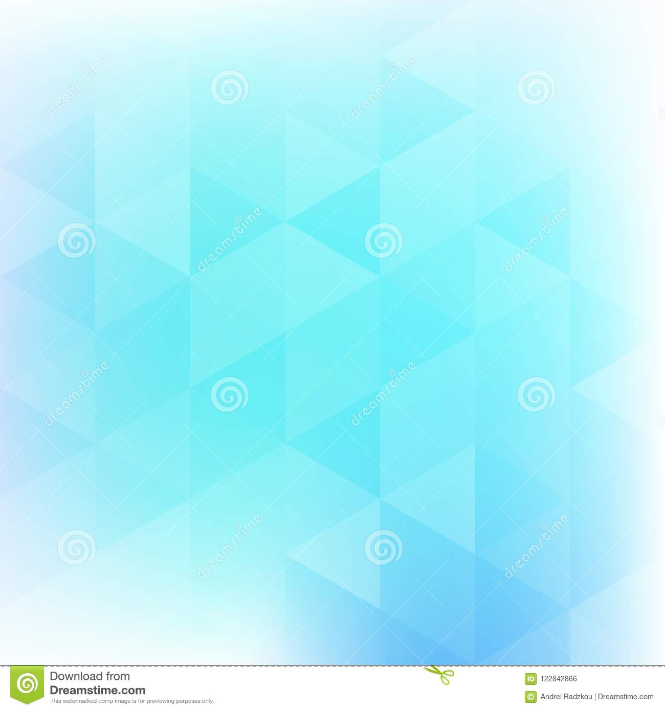 Subtle Light Blue Background Textured By Triangles Stock