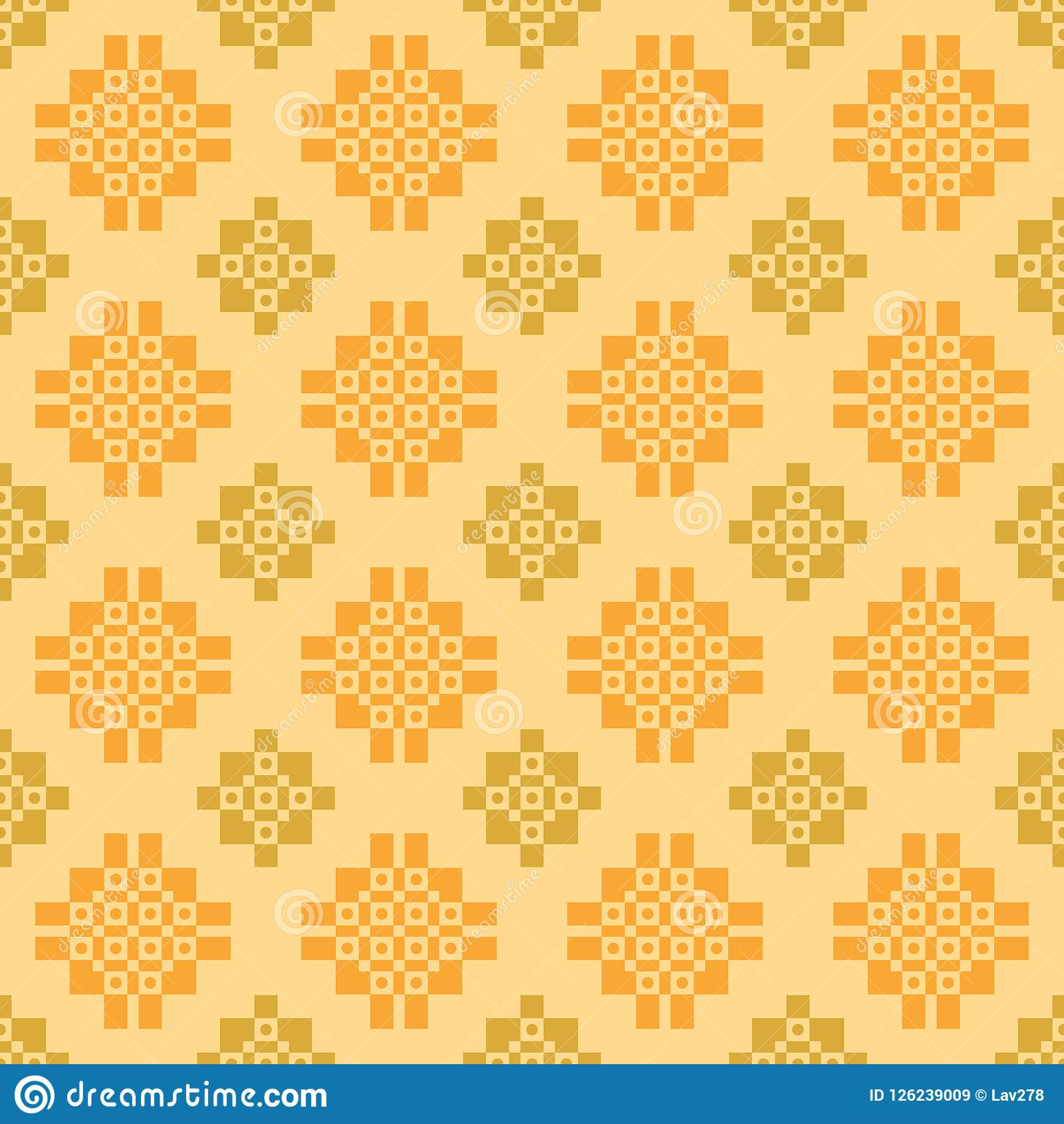 Subtle ethnic pattern on yellow background