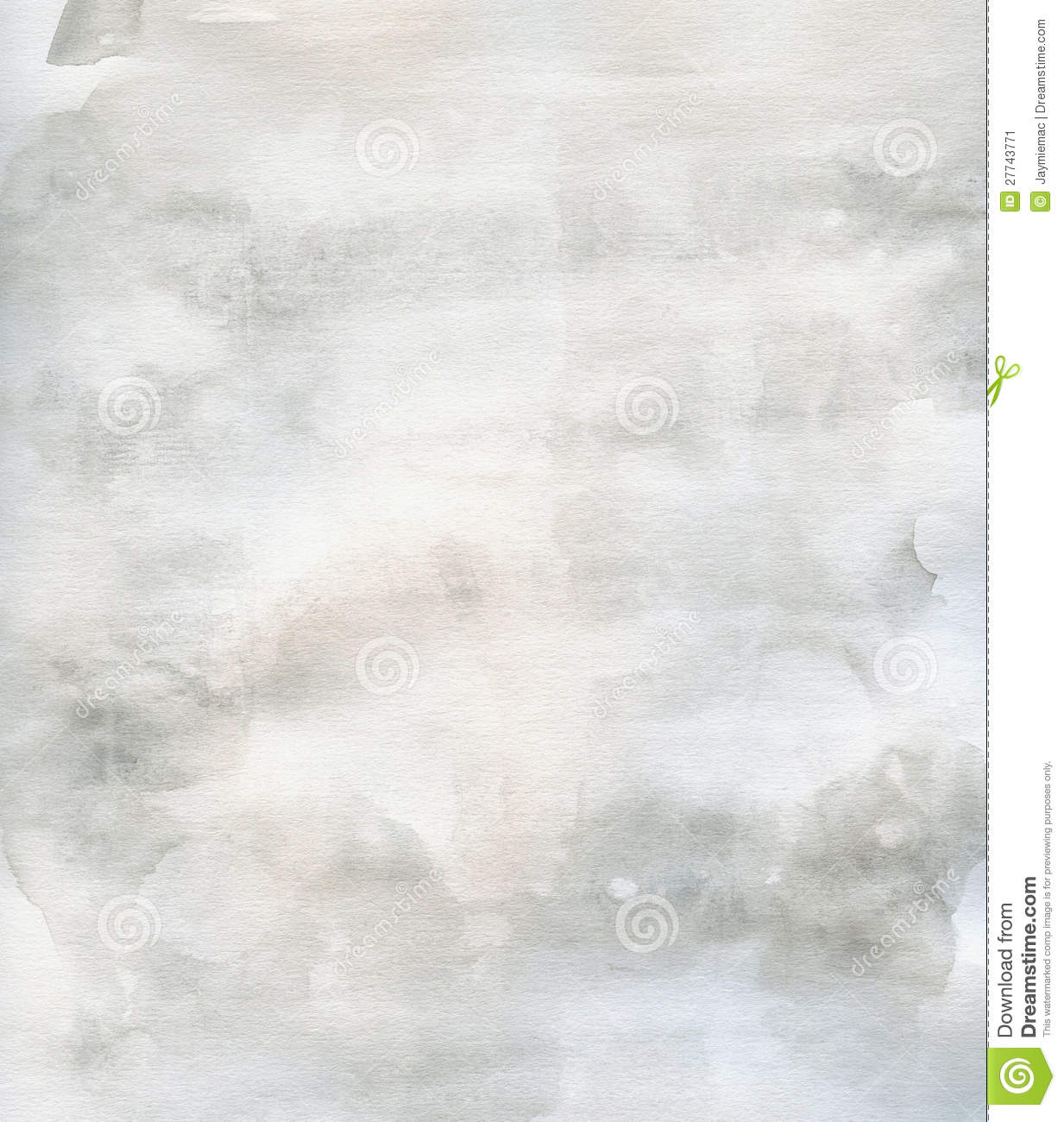 Subtle Grunge Texture Watercolor Background Grey Stock