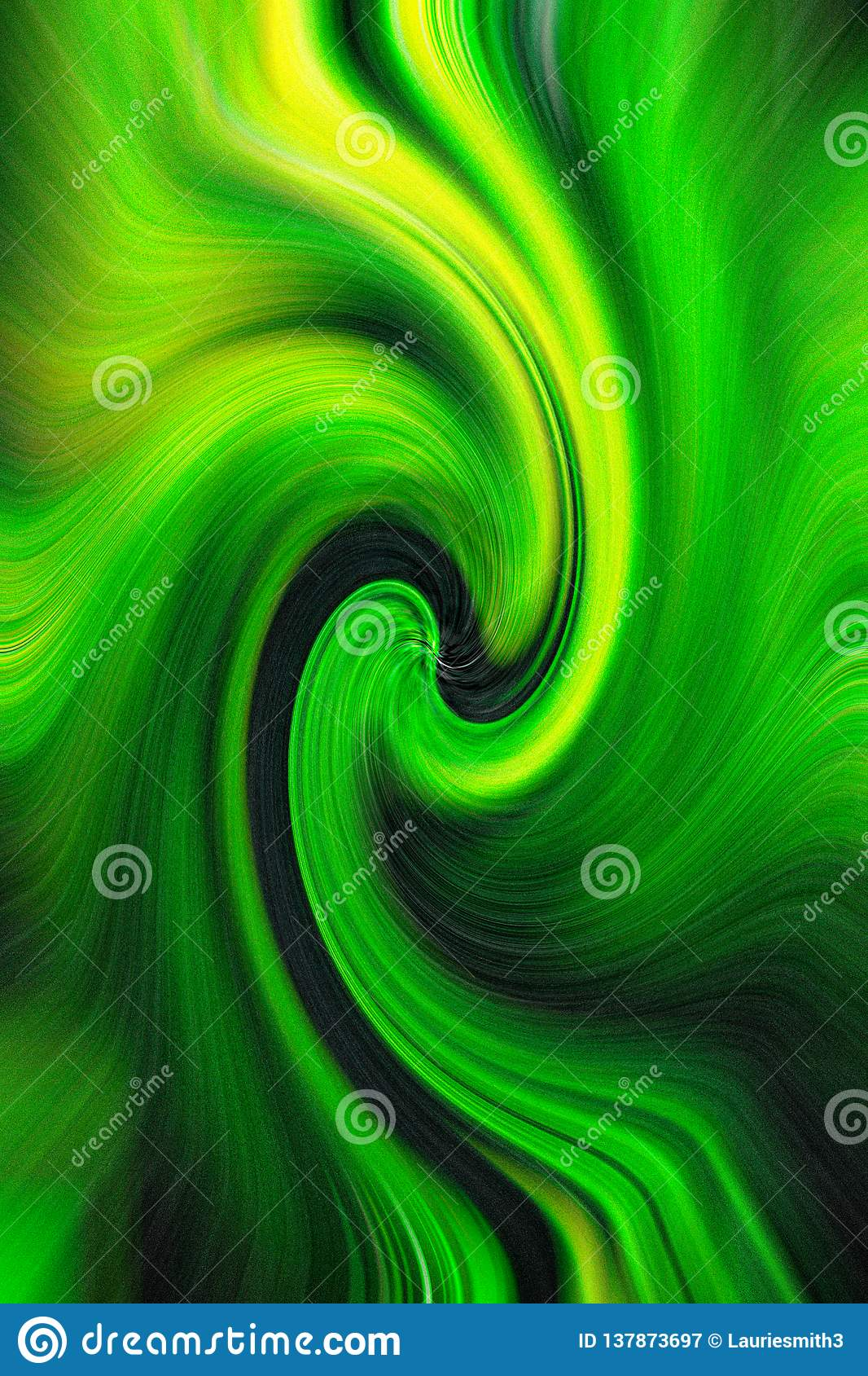 Subtle wave motion of black, yellow and green for background use