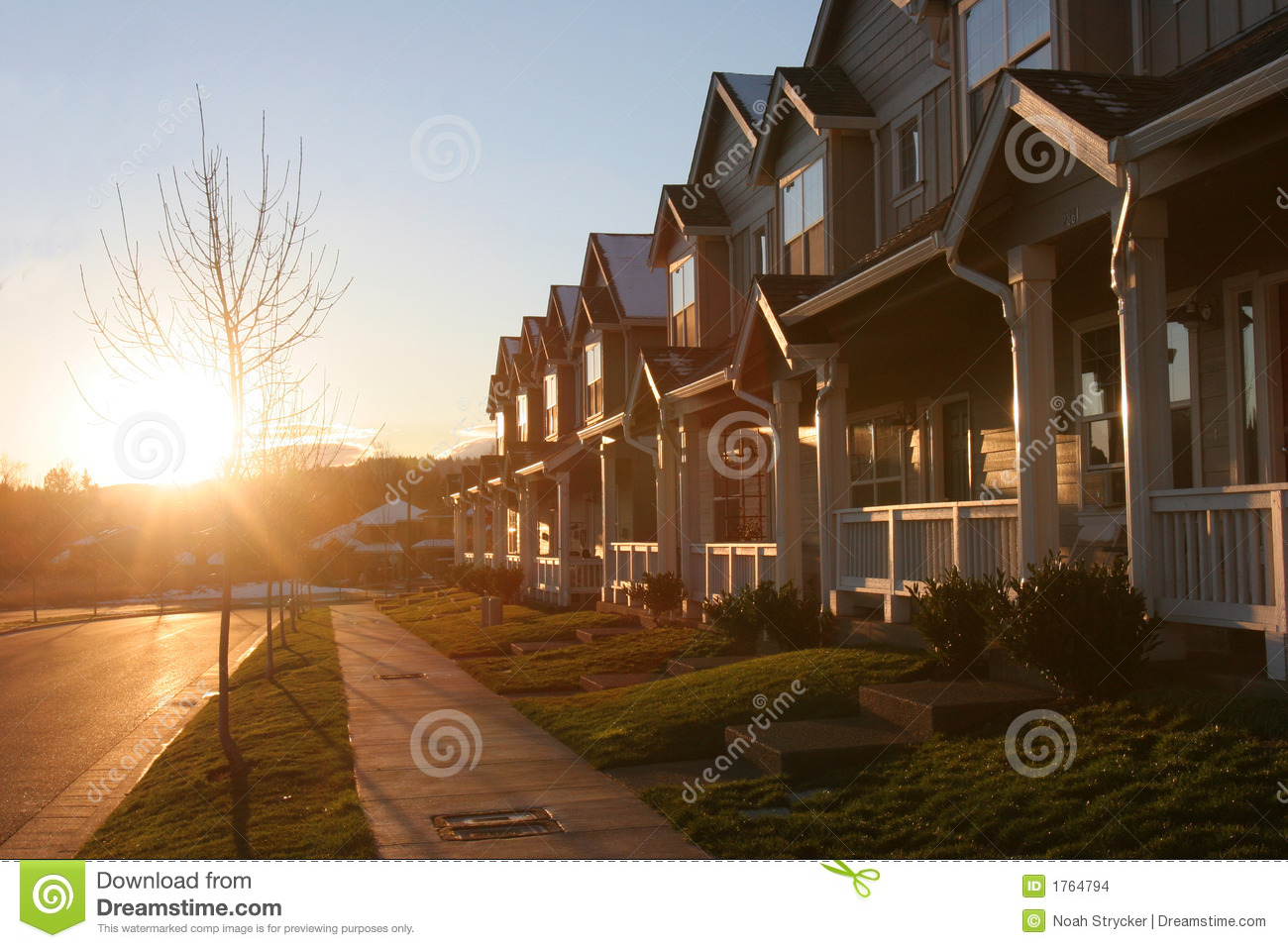 Suburban Seats 9 >> Suburb Sunset stock photo. Image of real, living, sold - 1764794