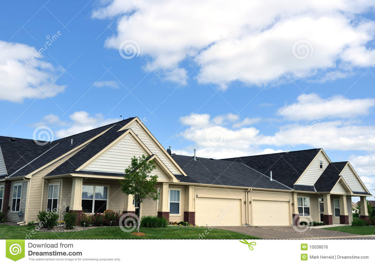 Duplex homes stock image 38452633 for Duplex home builders