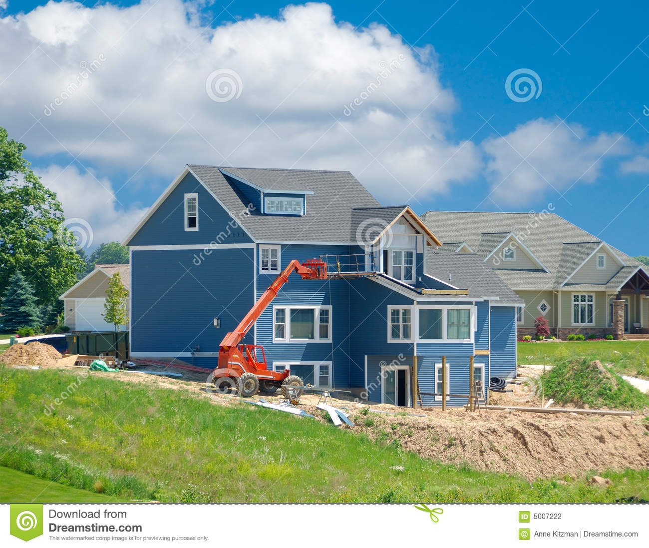 Suburban Home Under Construction Stock Photography Image