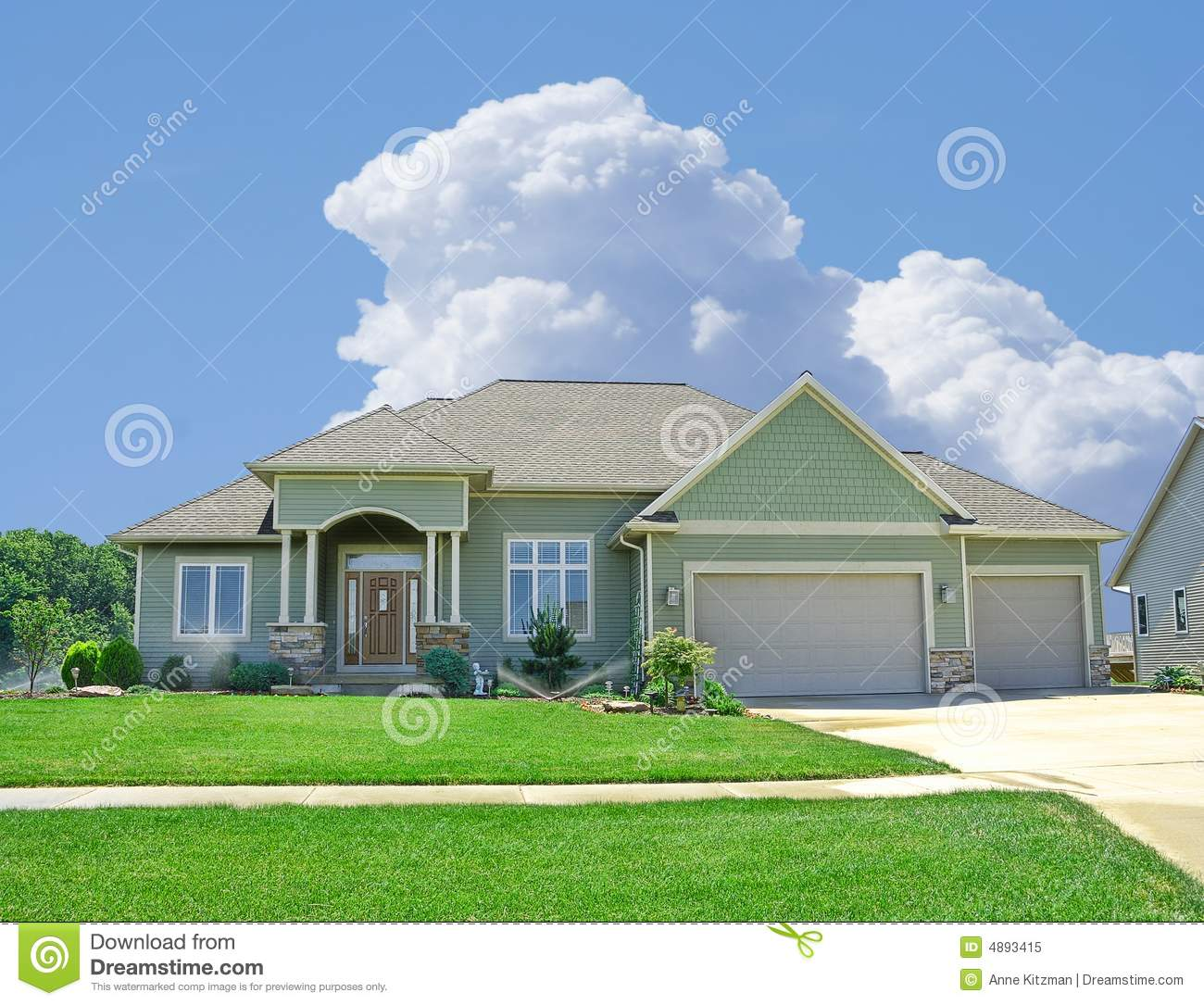 Suburban Home Vinyl Siding Stock Image Image Of Secluded